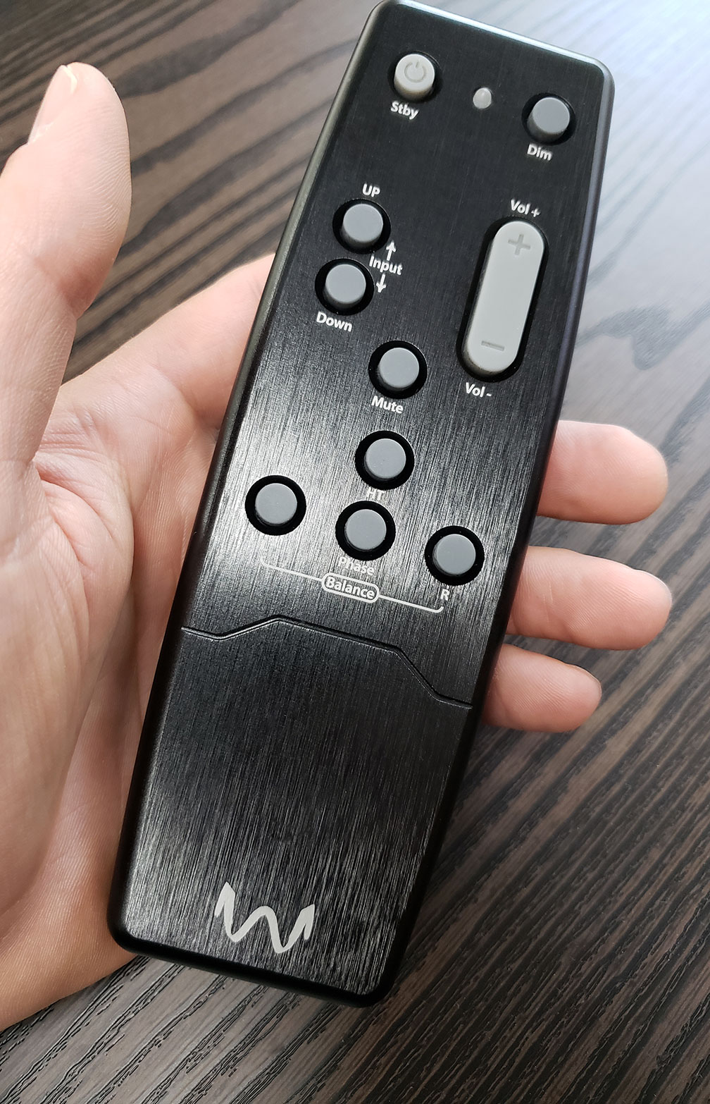 W4S Aluminum Remote in hand