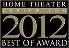 Home Theater Review.com Best of Award