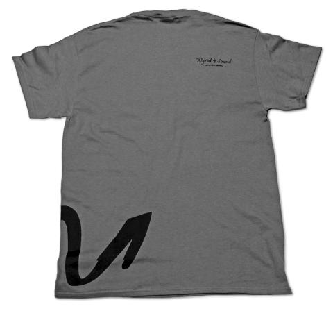 """Back: Large Wyred 4 Sound """"W"""" continues wrapping from front. """"Wyred 4 Sound"""" and website address printed on right shoulder"""