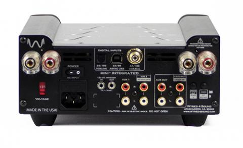 100 watt per channel power amp with Extremely low noise floor